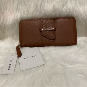 Cole Haan Leather Zip Around Wallet NWT
